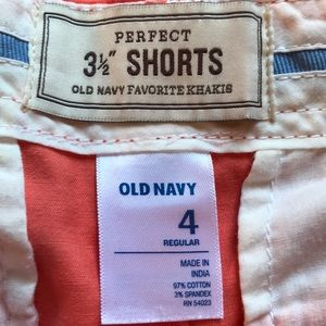 "Old Navy Shorts - Old Navy 3 1/2"" Orange/coral Shorts"